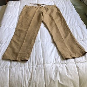 Polo RL Men's 34/30 Tan linen cotton pants